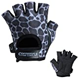 Contraband Pink Label 5297 Womens Design Series Leopard Print Lifting Gloves (PAIR) (Charcoal Gray, Medium)