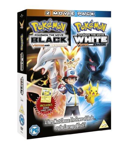 Pokémon the Movie: Black & Pokémon the Movie: White (Double Pack : Includes Pikachu bonus game card) [DVD]