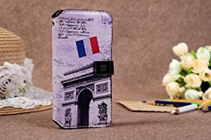 Cool French Style Leather Flip Case For iPhone 5 C + Free Screen Protector