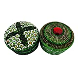 Indian Gift Home Decor Jewelry Box Handmade Traditional Christmas Gift Green Material Lac Beaded Accessories Box...