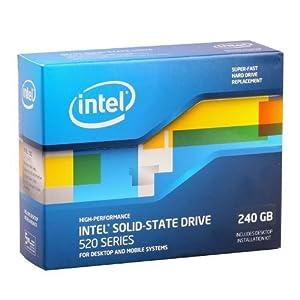 Intel 520 Series Solid-State Drive 240 GB SATA 6 Gb/s 2.5-Inch - SSDSC2CW240A3K5 (Reseller Kit)