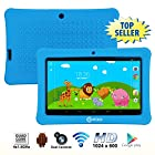 Contixo 7 Inch Quad Core Android 4.4 Kids Tablet, HD Display 1024x600, 1GB RAM, 8GB Storage, Dual Cameras, Bluetooth, Wi-Fi, Kids Place App & Google Play Store Pre-installed, 2015 July Edition, Kid-Proof Case (Blue)
