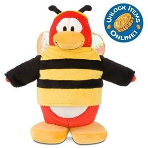 "Disney 9"" Deluxe Club Penguin Penguin Plush -- Bumble Bee (201001)"