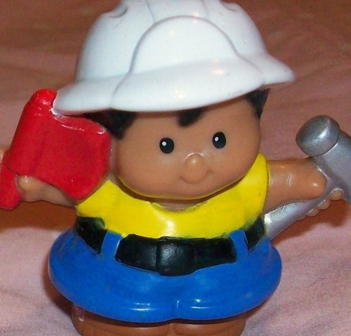 Fisher Price Little People Michael Construction Worker Replacement Figure Doll Toy - 1