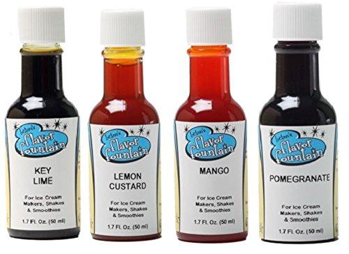 LorAnn Oils Gourmet Flavor Fountain Variety Bundle Key Lime, Lemon Custard, Mango, Pomegranate, 1.7 Ounce Bottles (4 Pack) (Lemon Custard Ice Cream compare prices)