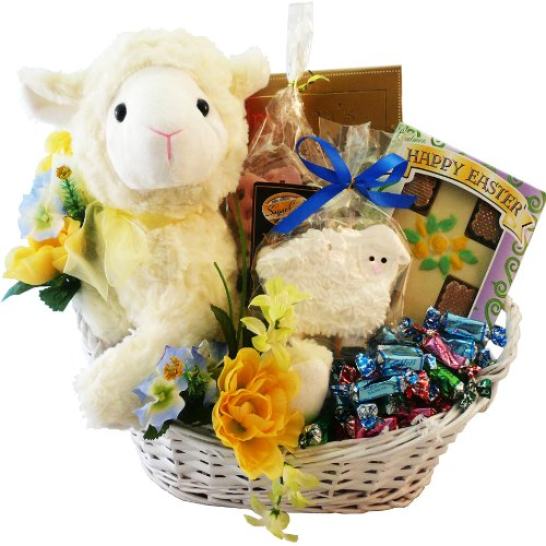 My Little Lamb Easter Gift Basket with Chocolate and Candy Treats