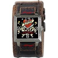 Ed Hardy (エド・ハーディー) 腕時計 WARRIORI MEN'S BLACK クォーツ WA-LK メンズ [正規輸入品]