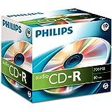CD-R audio Philips, 700 Mo, 80 mn, 10 pièces en jewelcase