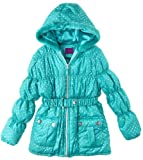 Velvet Chic Toddler Girls 2-4T Seaport Tonal Polka Dot Belted Puffer Jacket