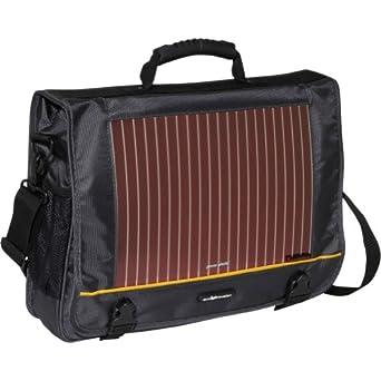Eco Traveler 16 in. Solar Laptop Messenger Bag (Grey)
