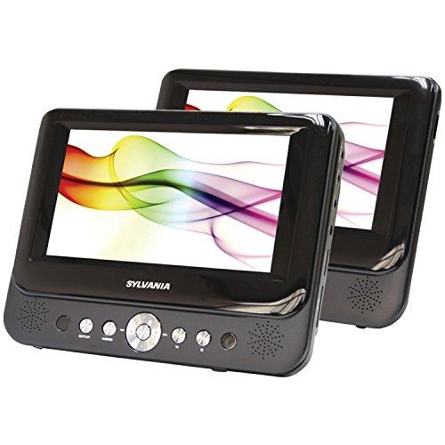 Sylvania SDVD8737 7-Inch Dual Screen Portable DVD Player (Auto Dvd Player Dual Screen compare prices)