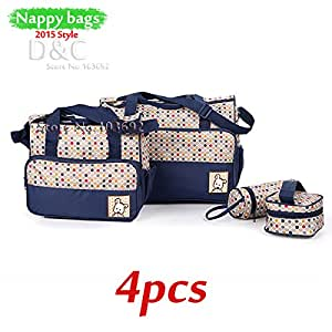 Amazon.com : 4pcs/set Multifunctional bolsa maternidade baby diaper
