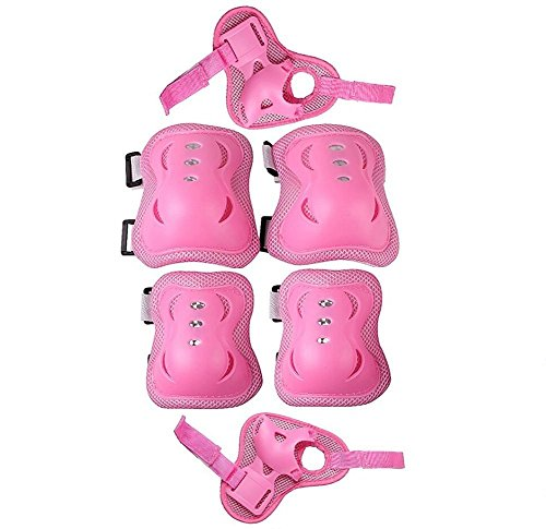 Kid-Toddlers-Knee-Elbow-Wrist-Safety-3-IN-1-Protective-Guards-Pads-Set-for-Cycling-Roller-Skating-Ice-Skate-Skateboard-Bike-Mini-Bike-Bicycle-Cycling-and-Other-Extreme-Sports