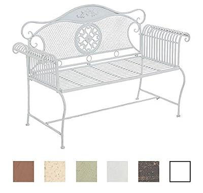 CLP Gartenbank RIKE im Landhausstil, aus lackiertem Eisen, 136 x 59 cm - aus bis zu 6 Farben wählen von CLP auf Gartenmöbel von Du und Dein Garten