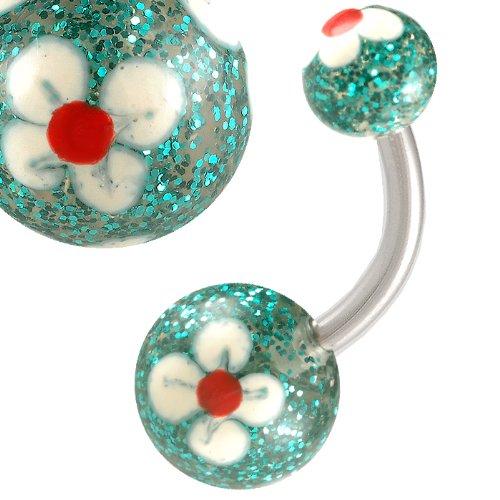 14G 14 gauge 1.6mm 3/8 10mm Steel Belly button rings navel bars Body Piercing Jewellery AERJ