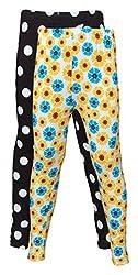 Little Stars Girls' Cotton Regular Fit Leggings- Pack of 2 (Po2Gpl_3203_28, Multi-Colour, 7-8 Years)