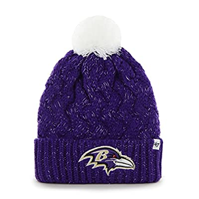 Women's Knit Baltimore Ravens Beanie Crochet Hat