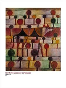 (24x32) Paul Klee Rhythmic Wooded Landscape Art Print Poster