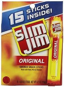 Slim Jim Original Snack Sticks, 0.28 Ounce, 15 Count