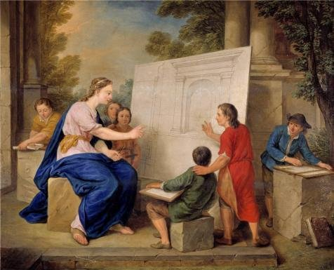 Oil Painting 'Learning To Draw In Perspective By Cornelius Joseph D Heur, 18th Century' 16 x 20 inch / 41 x 50 cm , on High Definition HD canvas prints is for Gifts And Foyer, Kids Room And St decor (Draw Touchpad compare prices)