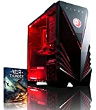 VIBOX Warrior 4 Gaming PC - 4.1GHz 6-Core, Desktop Computer with WarThunder Game Bundle, Neon Red LED Internal Lighting Kit PLUS a Lifetime Warranty Included* (3.5GHz (4.1GHz Turbo) AMD FX 6300 Six Core CPU Processor, 2GB AMD Radeon R9 270 HDMI Graphics Card, High Grade 85+ 500W PSU, 1TB Hard Drive, 8GB 1600MHz RAM, DVD-RW, Vibox Gamer Case, No Operating System)