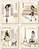 Paris, London, Roma and New York Set by Andrea Laliberte 11&quot;x14&quot; Art Print Poster