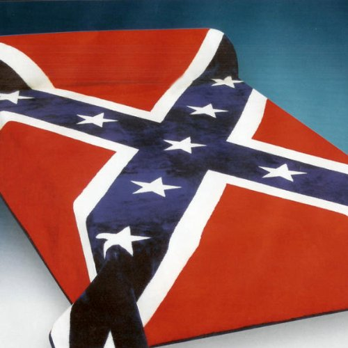 Hot Review Soft Red Blue And White Confederate State Rebel Flag Blanket Queen Or Full Bed Bedding