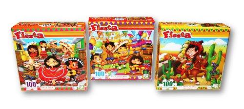 Fiesta 100 Piece Puzzle Pack ~ 3 Fiesta Puzzles - 1