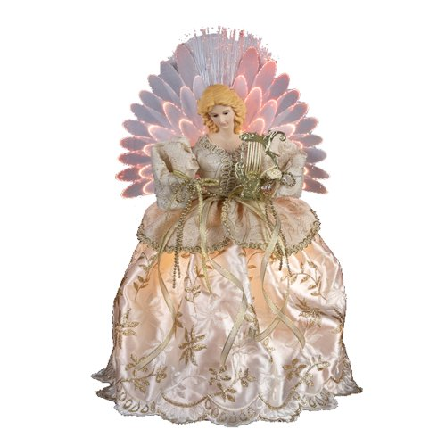 Kurt Adler UL 12-Inch Fiber Optic Angel Treetop