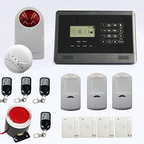 Wireless Gsm Home Security Burglar Sim Card Alarm Kit System Auto Dialing Dialer Call Wireless Gsm Host