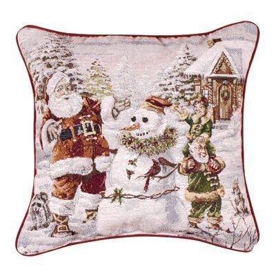 Santa's Helpers Snowman Pillow