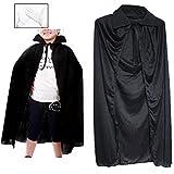 MUUMUULAB黒マントコスチューム衣装手袋付(05:黒襟120cm)