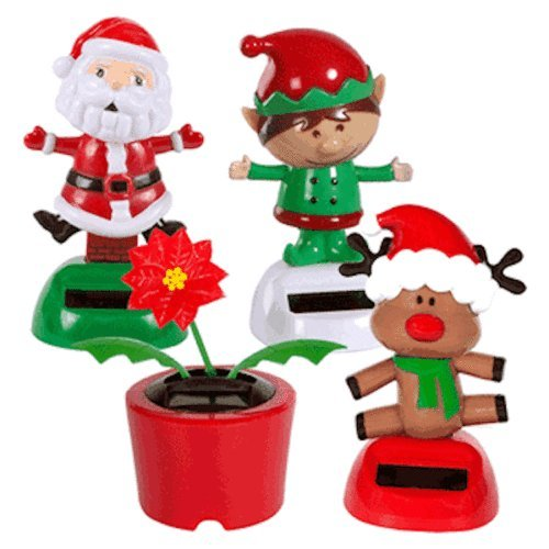 set-of-4-solar-powered-dancing-christmas-theme-santa-poinsettia-reindeer-elf-elves-by-greenbrier