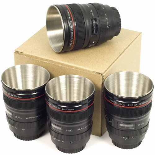Camera Mini Tea Cup 24-105mm Lens Mug Best Gift For Camera Photography Fans DC238