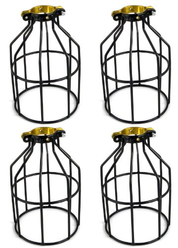 metal lamp guard bulb holder wire iron bird cage pendant
