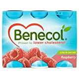 Benecol Cholesterol Lowering Yogurt Drink Raspberry 6 x 67.5g