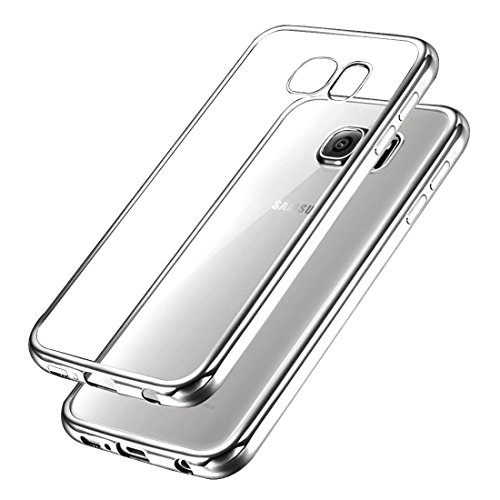 Galaxy S7 Étui TPU,Ubegood Ultraslim TPU Case Bumper Cover Pour Samsung Galaxy S7 Housse de Protection Shell( Argent)