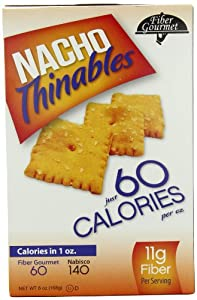 Fiber Gourmet Crackers, Nacho Thinables, 6 Ounce from FiberGourmet