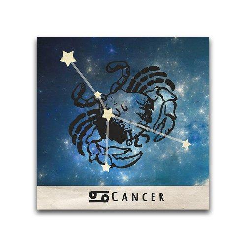 Cancer-Zodiac-16x16-Inch-Metal-Wall-Art