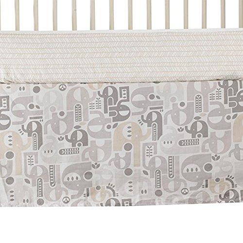 Lolli Living Naturi Bed Skirt, Elephant Print