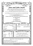 Personalised Parchment Poster-This Day in History-Wedding or Anniversary-Classic Style 2