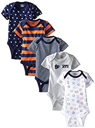 Gerber Baby-Boys Variety Onesies Brand Bodysuits, Sports, 3-6 Months (Pack of 5)
