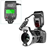 Neewer® close-up nw-14exm universale LED Macro anello luce flash con AF Assist Lamp per Canon Nikon Sony Panasonic Olympus Fujifilm Pentax e altre fotocamere DSLR con single-contact Hot Shoe