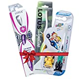 High Quality Adult & Kids Toothbrushes - Family Pack of 3 Brushes