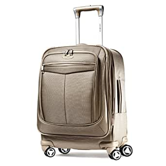 "Samsonite Silhouette 12 Widebody 20"" Carry On Spinner Luggage Champagne"