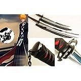 Dream2reality Cosplay Bleach Ichigo Kurosaki Max Tensa Zangetsu: Shingetsu Medium Carbon Steel Sword