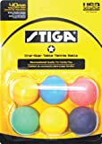 Stiga 1-Star Multi Color Table Tennis Balls (6 Pack)