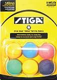 Stiga 1-Star Multi Color Table Tennis Balls (6 Pack)