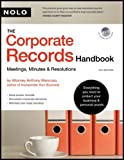 img - for Mancuso's Corporate Records Handbook, The: Meetings, Minutes & Resolutions (book with CD-Rom) book / textbook / text book