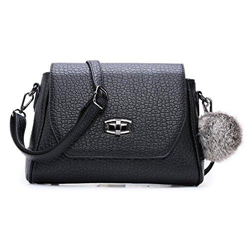GQQ NUOVE borse a tracolla borse moda PU Dacron per Shopping Party e borsa lavoro GQ @ , black